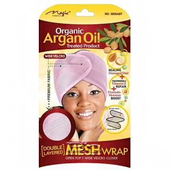 Magic Collection #3005AST Organic Argan Oil Double Layered Mesh Wrap - Assorted