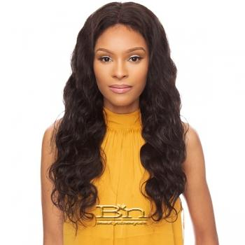 Awesome Ebony Virgin Human Hair 13x4 Lace Frontal Wig - LOOSE BODY WAVE 18