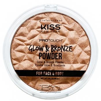 Kiss New York KPBP01 Pro Touch Glow & Bronze Powder - Medium