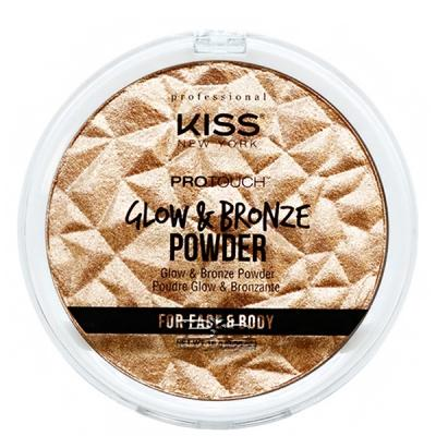 Kiss New York KPBP02 Pro Touch Glow & Bronze Powder - Deep