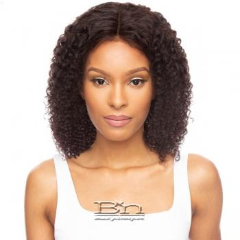 Awesome Ebony Virgin Human Hair 360 Lace Frontal Wig - WATER WAVE 16