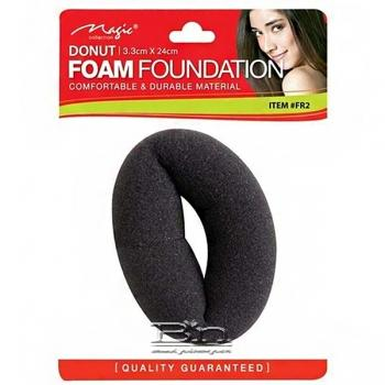 "Magic Collection #FR25 Donut 1 1/2"" Foam Foundation Black Soft - Thick"