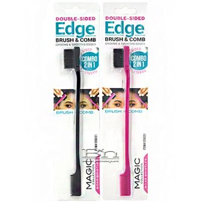 Magic Collection #EDGE01 2 in 1 Double Sided Edge Brush Brush & Comb