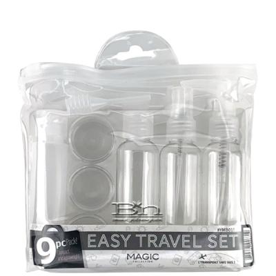 Magic Collection #YMB018 9pcs Easy Travel Empty Container Set - White