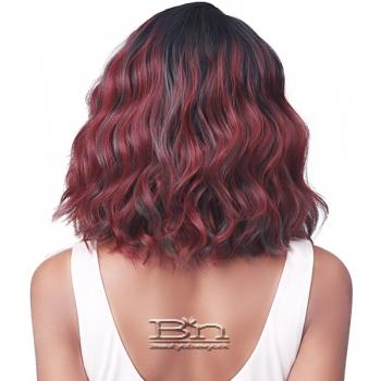 Bobbi Boss Synthetic Hair 4.5 inch Deep Part Lace Front Wig - MLF487 HENNA
