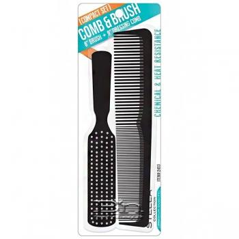 """Stella Collection #2453 8"""" Brush & 9"""" Dressing Comb Compact Set"""