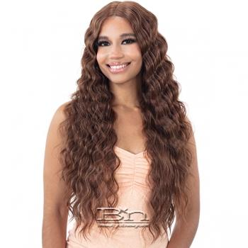 Mayde Beauty Lace and Lace Synthetic 5 inch HD Lace Front Wig - DEEP CRIMP CURL