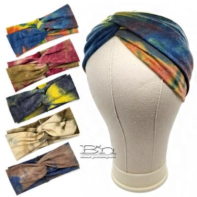 Bon Tie Dye Criss Cross Turban Headband