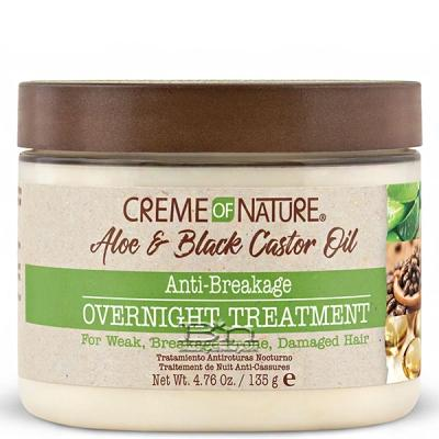 Creme of Nature Aloe & Black Castor Oil Anti-Breakage Overnight Treatment 4.76oz