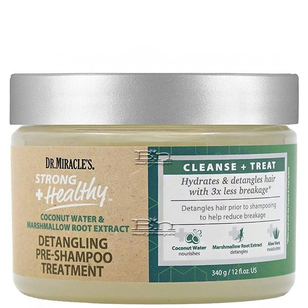 Dr. Miracle's Strong + Healthy Detangling Pre-Shampoo Treatment 12oz