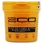 Eco Style EcoPlex Gold Gel with Olive Oil & Shea Butter, Black Castor Oil & Flaxseed 16oz