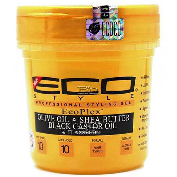 Eco Style EcoPlex Gold Gel with Olive Oil & Shea Butter, Black Castor Oil & Flaxseed 8oz