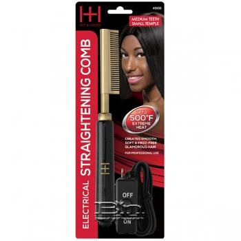 Hot & Hotter #5533 Electrical Straightening Comb Medium Teeth Small Temple Head