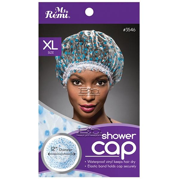 Annie Ms. Remi Shower Cap Extra Large -Pink Floral &  Blue Dot