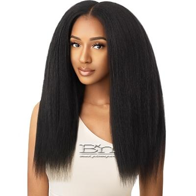 Outre Big Beautiful Hair Human Hair Blend Clip in - KINKY STRAIGHT 18