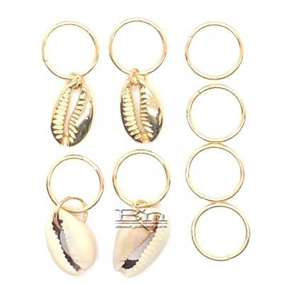 WIGO Collection Hair Accessories Braid Ring - (CTG11 - Shell Gold Ring)