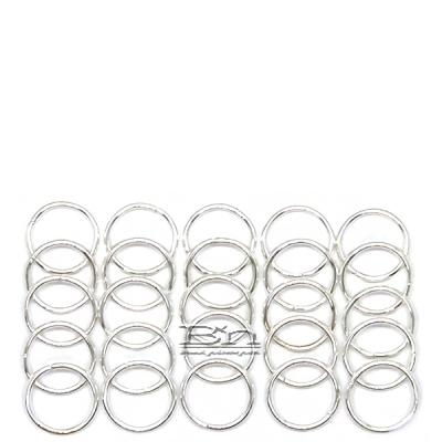WIGO Collection Hair Accessories Braid Ring - (CTG13 - Silver Ring 25pcs)