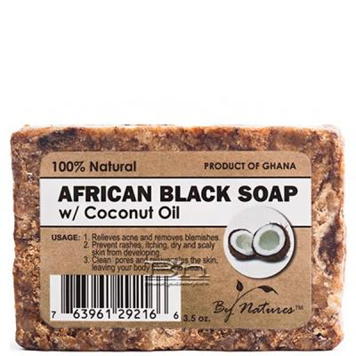 By Natures African Black Soap with Coconut Oil 3.5oz