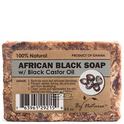 By Natures African Black Soap with Black Castor Oil 3.5oz