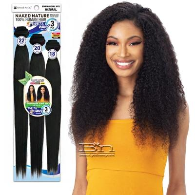 Naked 100% Brazilian Virgin Remy Hair Wet & Wavy Weave - BOHEMIAN CURL 3PCS (18/20/22)