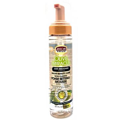 African Pride Olive Miracle Foam Setting Mousse 8.5oz