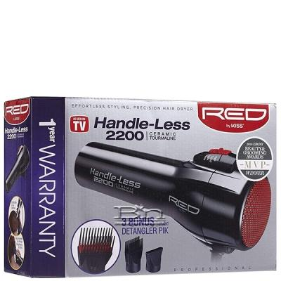 Red by Kiss Handle-Less 2200 Tourmaline Ceramic Hair Dryer BD09
