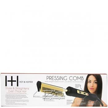 Hot & Hotter #5838 Electrical Pressing Comb Medium Straight Teeth
