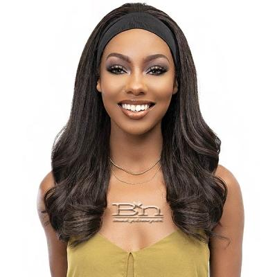 Janet Collection Crescent Synthetic Hair Headband Wig - CORA