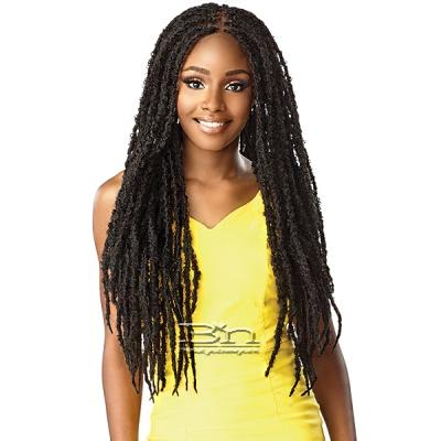 Sensationnel Cloud 9 Synthetic Hair 4x4 Lace Parting 100% Hand-Braided HD Swiss Lace Wig - BUTTERFLY LOCS 30