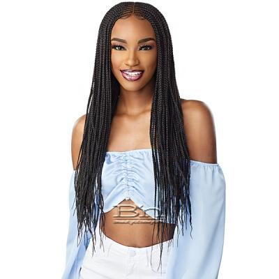 Sensationnel Cloud 9 Synthetic Hair 4x5 Lace Parting 100% Hand-Braided HD Swiss Lace Wig - CENTER PART FEED IN 28