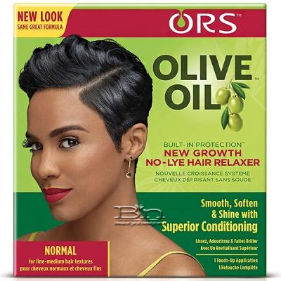ORS Olive Oil New Growth No-Lye Normal Hair Relaxer Kit