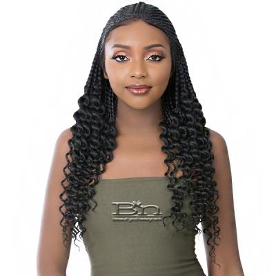 It's a Wig Synthetic Hair HD Lace Wig - HD CORNROW BRAID WATER WAVE