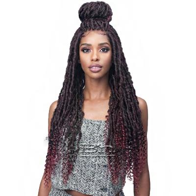 Bobbi Boss Synthetic Hair 4x4 Frontal Lace  Wig - MLF619 NU LOCS CURLY TIPS 30