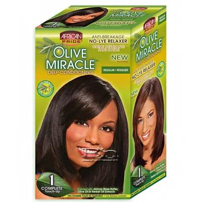 African Pride Olive Miracle Conditioning No-Lye Relaxer Touch-up Kit Regular