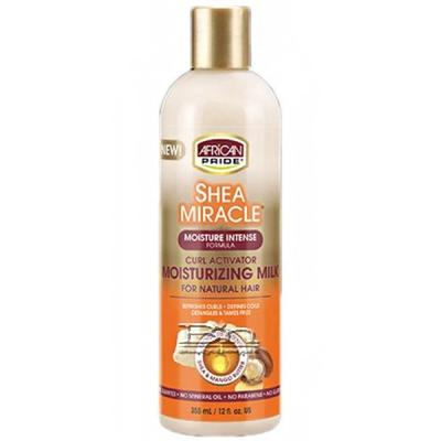 African Pride Shea Miracle Curl Activator Moisturizing Milk 12oz