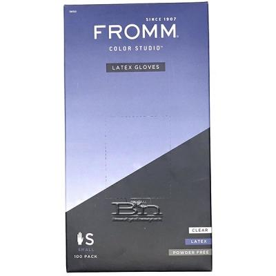 Fromm Color Studio #D8010 Latex Gloves Powder Free - Small 100ct