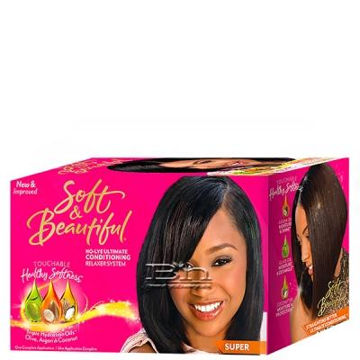 Soft & Beautiful No-Lye Conditioning Relaxer Kit - Super