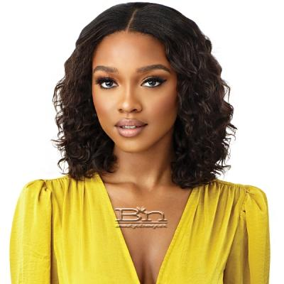 Outre Mytresses Gold Label 100% Unprocessed Human Hair U Part Leave Out Wig - ARUBAN WAVE 12