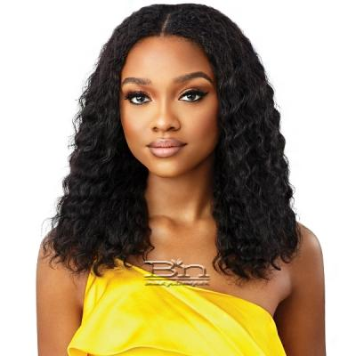 Outre Mytresses Gold Label 100% Unprocessed Human Hair U Part Leave Out Wig - PERUVIAN WAVE 18