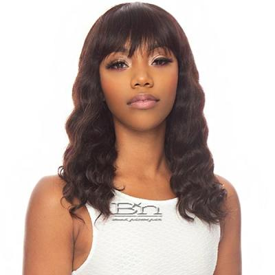 The Wig Black Pink Pure Virgin Remy 100% Human Hair Wig - HHBW LOOSE 18