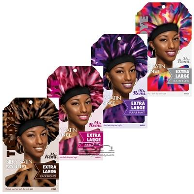 Annie Ms. Remi #4525 Tie Dye Silky Satin Bonnet Extra Large Assorted
