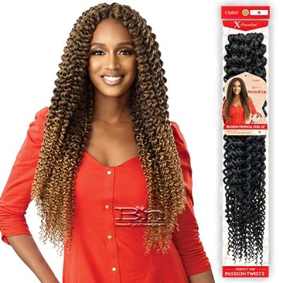 Outre Synthetic Braid - X PRESSION TWISTED UP PASSION TROPICAL CURL 22