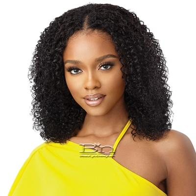 Outre Mytresses Gold Label 100% Unprocessed Human Hair U Part Leave Out Wig - CARIBBEAN CURLY 14