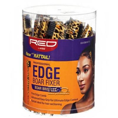 Red by Kiss BSH33J Professional Edge Brush With Comb & Rattail Boar Bristles Bucket(48ea)