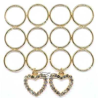 WIGO Collection Hair Accessories Braid Ring - (CTG20 -  Stone Heart Gold Ring)