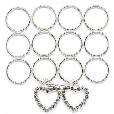 WIGO Collection Hair Accessories Braid Ring - (CTG21 - Stone Heart Silver Ring)