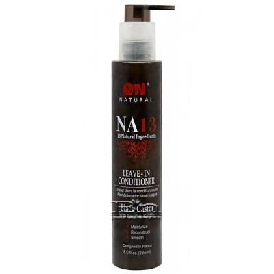 On Natural NA13 Leave In Conditioner Black Castor with Brazilian Keratin 8oz