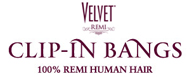 Velvet Remi Clip-In Bang