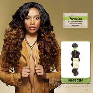 Sensationnel 100% Virgin Remi Bundle Hair Bare & Natural - Peruvian Loose Deep 12