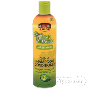 African Pride Olive Miracle 2-In-1 Shampoo & Conditioner 12oz
